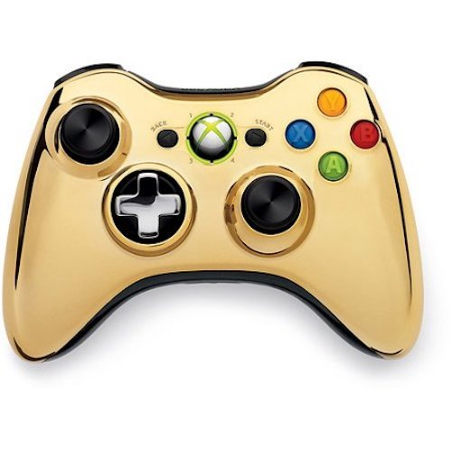Xbox 360 Wireless Controller - Gold Chrome for sale  Delivered anywhere in USA