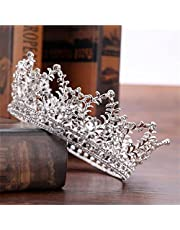 FUMUD Bridal Jewelry Baroque Tiara Crown Women Vintage Headband Rhinestone Crystal Crown