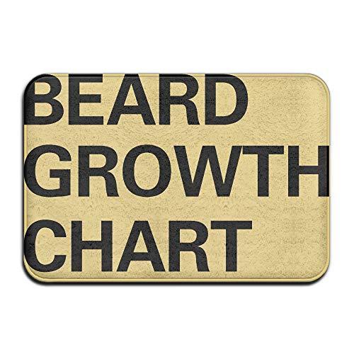 Growth Rug Chart (Door Floor Mat Area Rug Anti-Skid Foot Pad Beard Growth Chart Absorption Doormats for Home Indoor Outdoor Kitchen Bathroom Entry Clean Step)