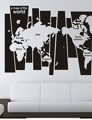 Syx wall stickers wall decals world map pvc wall stickers amazon syx wall stickers wall decals world map pvc wall stickers gumiabroncs Images