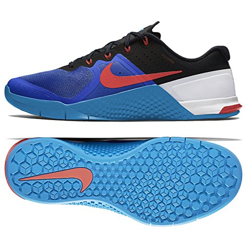 new concept b926d ee01a Galleon - Nike Metcon 2 Cross Training Shoes (12, Racer Blue Bright  Crimson Blue Glow Black)
