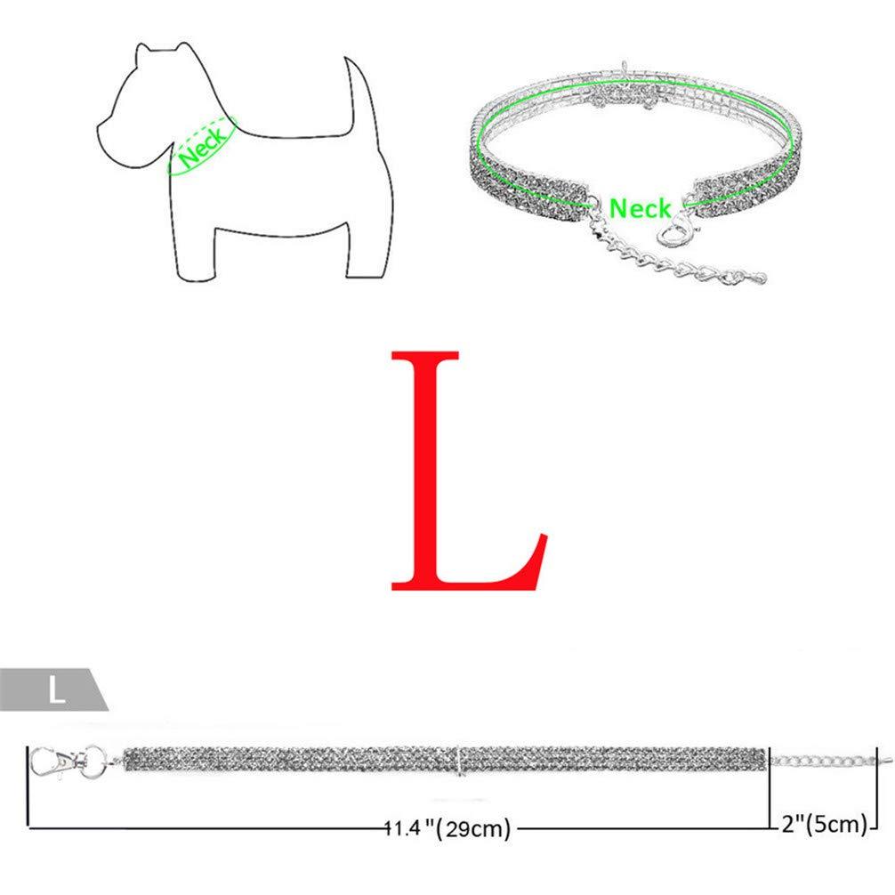 Small Collare Elastico per Cuccioli e Gatti con Strass Bianco Zeagro per Cani di Piccola Taglia