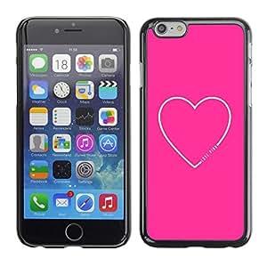 """Pulsar Snap-on Series Teléfono Carcasa Funda Case Caso para Apple Iphone 6 Plus / 6S Plus ( 5.5 ) , Corazón Cita del amor de texto minimalista"""""""