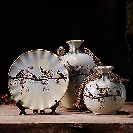 Amazon Newqz Chinese Vase3 Piece Set Of Decorative Ceramic