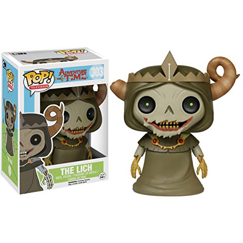 Funko The Lich: Adventure Times / Minecraft x POP! Animation Vinyl Figure & 1 POP! Compatible PET Plastic Graphical Protector Bundle [#303 / 06977 - B] ()
