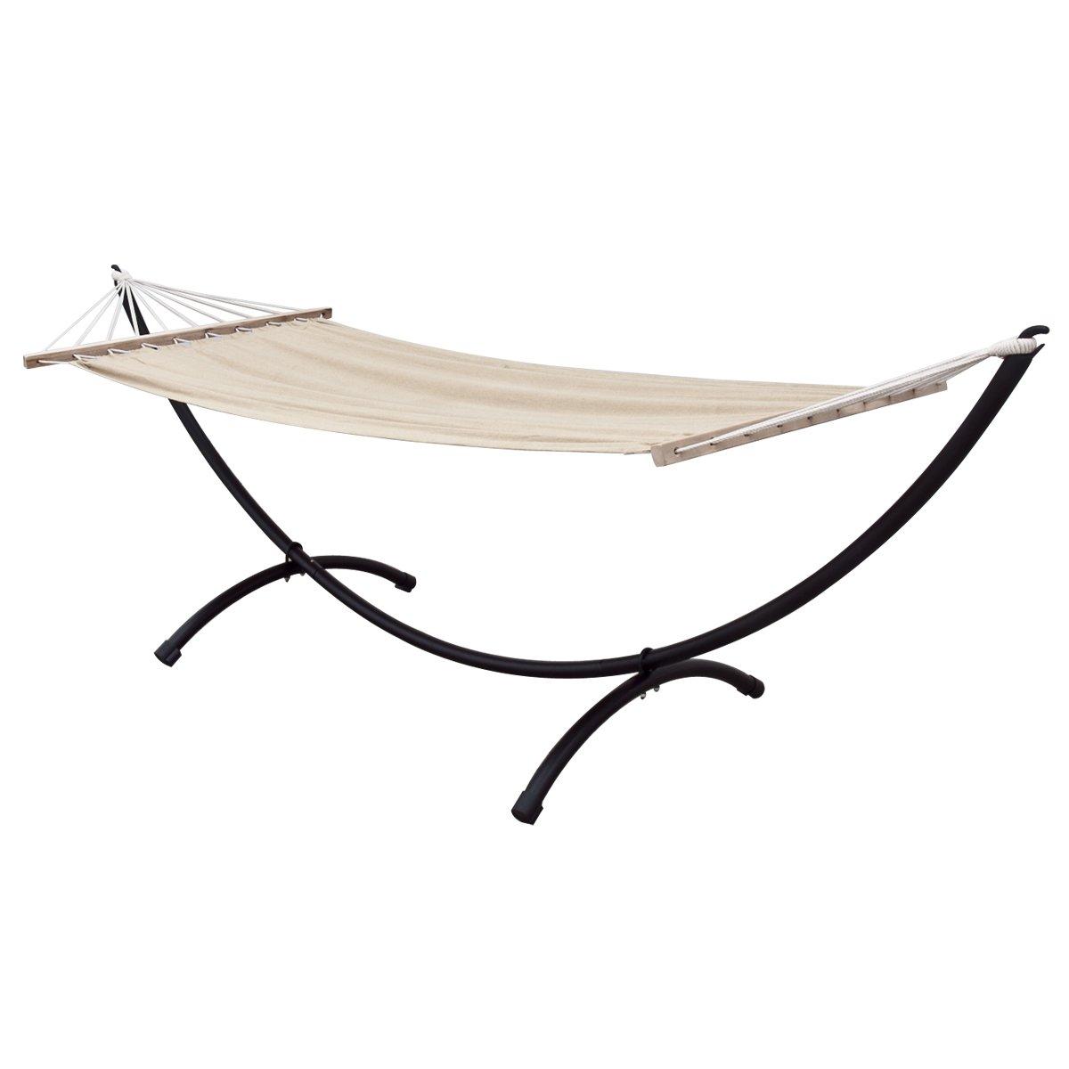 amazon     apontus single hammock with space saving steel stand 9 8 ft   garden  u0026 outdoor amazon     apontus single hammock with space saving steel stand      rh   amazon
