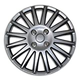 hubcaps nissan altima 2010 - TuningPros WSC2-019S16 Hubcaps Wheel Skin Cover Type 2 16-Inches Silver Set of 4