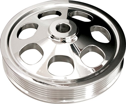 - NEW BILLET SPECIALTIES SBC POLISHED POWER STEERING PUMP PULLEY FOR GM SAGINAW TYPE 1 PRESS-ON PUMPS, 6 RIB SERPENTINE, 6