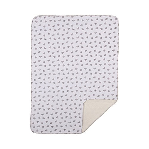 Living Textiles Jersey Baby Blanket w/Sherpa - Sketched Hearts