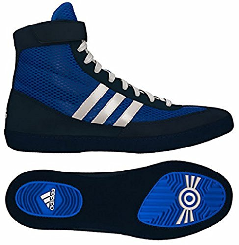 04.0 Royal/White/Navy Combat Speed 4 Wrestling Shoes