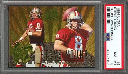 e5773bb09fd 1994 ultra touchdown kings  9 STEVE YOUNG san francisco 49ers PSA 8 Graded  Card