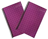 Superior Check and Debit Card Register - Simple Account Tracker - Purple - 2-Pack