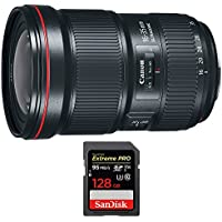 Canon (0573C002) EF 16-35mm f/2.8L III USM Ultra Wide Angle Zoom Lens w/ Sandisk Extreme PRO SDXC 128GB UHS-1 Memory Card