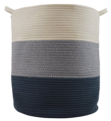 Cotton Rope Basket for Storage and Organization in Baby Nursery or Kids Room | Extra Large 18