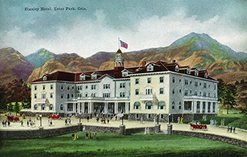 Rocky Mountain National Park, Colorado - Exterior View of the Stanley Hotel, Estes Park (12x18 Collectible Art Print, Wall Decor Travel Poster) (National Park Park Mountain Rocky Estes)