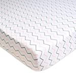 American-Baby-Company-3-Piece-100-Cotton-Jersey-Knit-Fitted-Crib-Sheet-for-Standard-Crib-and-Toddler-Mattresses-Blush-Pink-StarZigzag-for-Girls