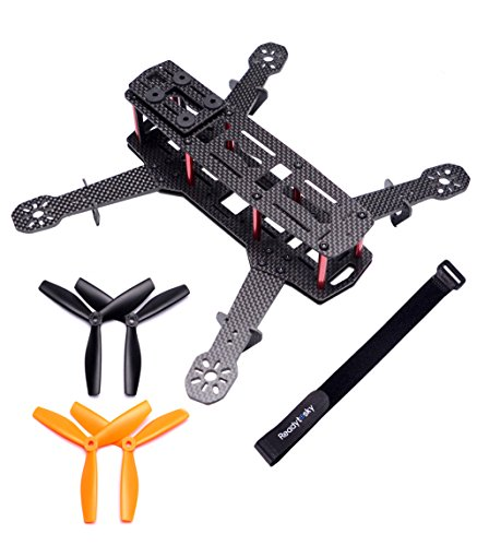 Readytosky 250mm FPV Racing Drone Frame Carbon Fiber Quadcopter Frame Kit 4mm FPV Frame Arms Lipo Battery Strap