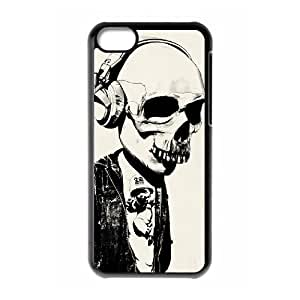 QSWHXN Skull Art 1 Phone Case For Iphone 5C [Pattern-6]