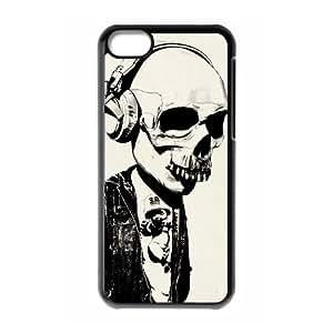 WJHSSB Skull Art 1 Phone Case For Iphone 5C [Pattern-6]