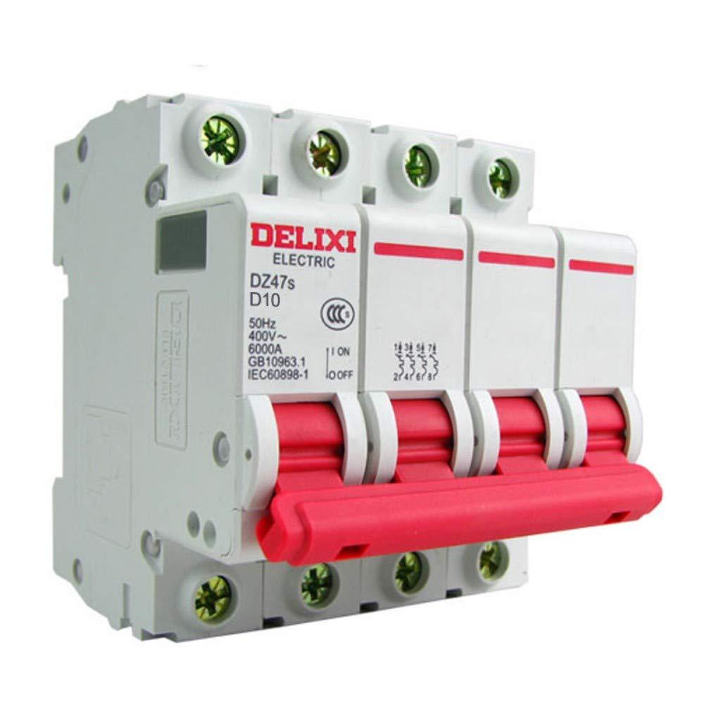 Protecteur de Surcharge 10A 380V triphas/é /électrique 4P 63A XIONGXI Interrupteur dair Miniature disjoncteur 4P 63A de Type D
