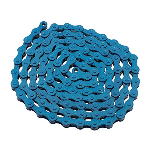 (YBN S410 Bicycle Chain (1-Speed, 1/2 x 1/8-Inch, 112L) , Various Colors(Blue))