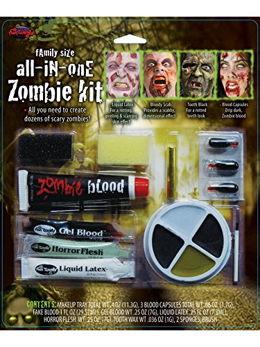 Family Size All In One Zombie Kit Costume (Halloween Zombie Makeup Man)