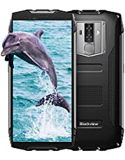 "Rugged Smartphone, Blackview BV6800 Pro Wireless Charging Rugged Mobile Phone, Android 8.0 Oreo 5.7"" FHD+ 18:9 Dual SIM Smartphone Unlocked, 4GB + 64GB, 16MP+8MP, 6580mAh, Face ID, NFC, GPS-Black"