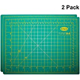Self Healing Cutting Mat (2 Pack) - Non Slip Rotary Cutting Mat 22 x 30cm (8.66 x 11.81 inches) - Silicone A4 Craft Mat for Sewing and Quilting - Trimming Mat