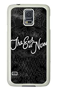 Samsung Galaxy S5 Case and Cover - The End Is Now Mayan PC Hard Case Cover for Samsung Galaxy S5 White