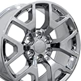 22x9 Wheel Fits GM Trucks & SUVs - GMC Sierra 1500 Style Chrome Rim, Hollander 5656