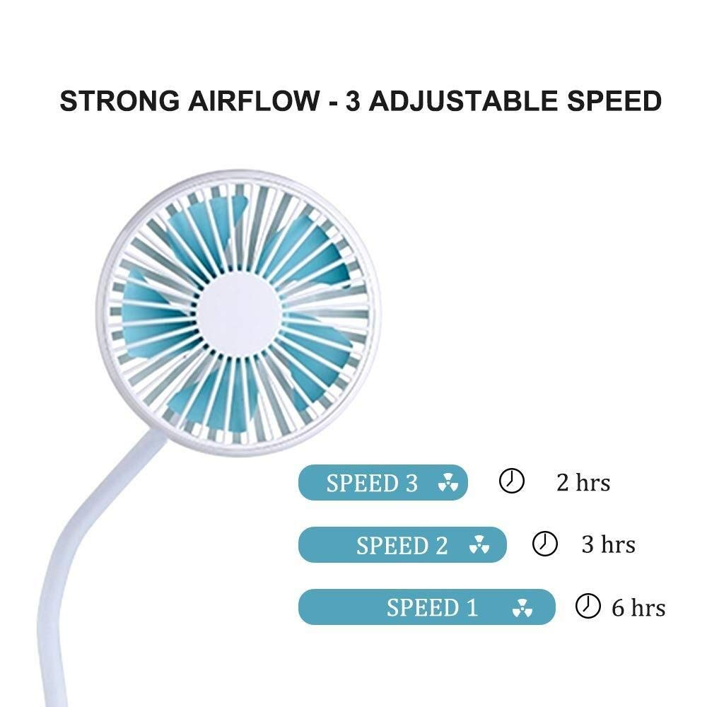 JINGB Portable Clip on Fan for Baby Strollers by JINGB-USB FAN (Image #3)