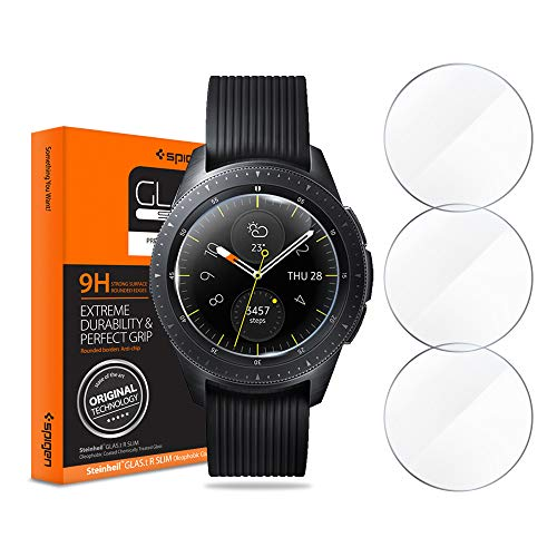 Spigen Tempered Glass Screen Protector Designed for Samsung Galaxy Watch 42mm (2018) (3 Pack)