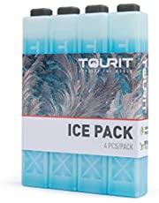 TOURIT Ice Packs for Coolers Reusable Long Lasting Freezer Packs for Lunch Bags/Boxes, Cooler Backpack, Camping, Beach, Picnics, Fishing and More (Set of 4, Blue)