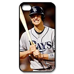 MLB iPhone 4,4S White Tampa Bay Devil Rays cell phone cases&Gift Holiday&Christmas Gifts NADL7B8824261