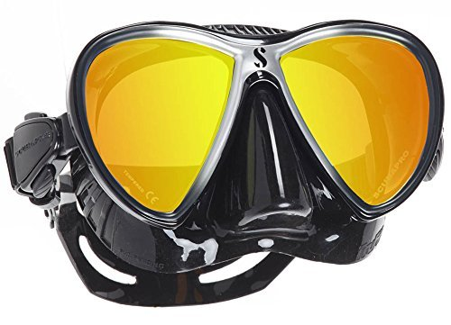 Scubapro Synergy Trufit Twin Mirrored Mask, Black/Silver