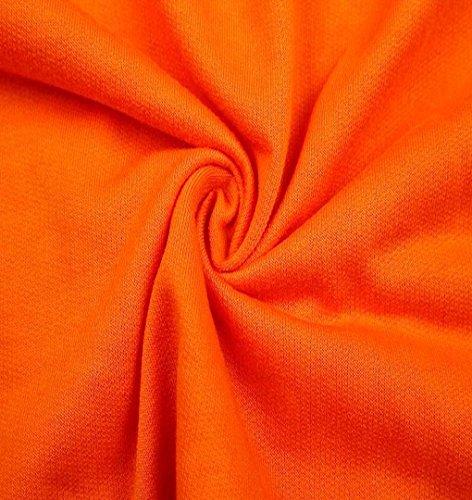 ZEZKT Damen Sportswear 2 Teile Langarm Sweatshirt + Hosen Casual Jogginganzug Sportbekleidung Yoga Laufen Aktivitäten Fitness Trainingsanzug Jogginganzug Zweiteiler Casual Sportanzug Orange