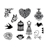 DECORA 1 pcs Different Pattern Clear Stamp for Decoration of DIY