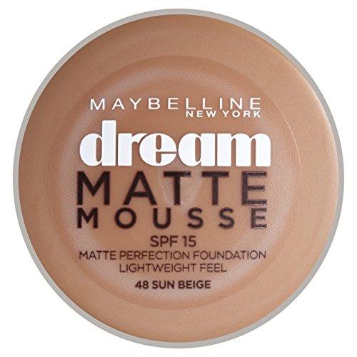 Beige Maybelline Dream Matte Mousse (Maybelline New York Dream Matte Mousse Foundation Sun Beige (048))