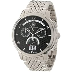 S. Coifman Men's SC0184 Chronograph Black Textured Dial Stainless Steel Watch