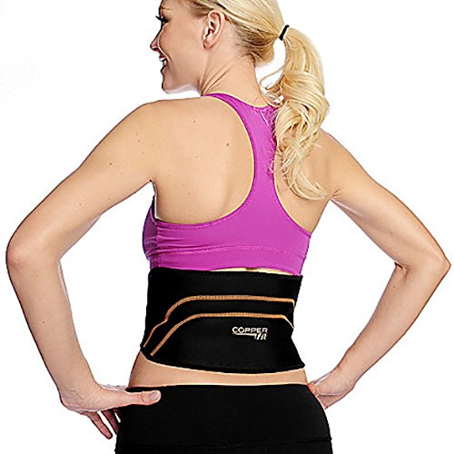 Copper Fit Back Pro Brace Lower Back Support Compression Belt Size S/M 28″-36″ – DiZiSports Store
