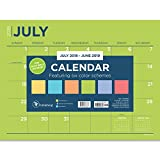 TF Publishing 19-8548A July 2018 - June 2019 Color Collection Mini Desk Pad Calendar, 12 x 9'', Multi Colored