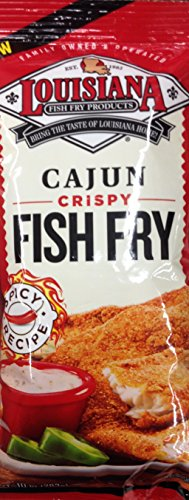Cajun Fish - Louisiana Fish Fry Cajun - 3 Bags of 10 Oounces