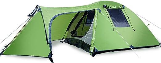Tiendas Campaña, Acampar Al Aire Libre Dedicado Ampliado Espacio Grande Campaña Plegable Montaña Camping Doble 3-4 Personas, Verde: Amazon.es: Hogar