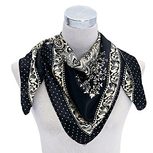 Premium-Silk-Rayon-9090CM-Square-Neck-Scarf-for-Women-Clothing-Decor