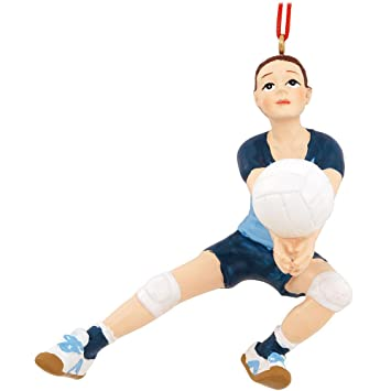 Amazoncom Girl Volleyball Player Christmas Ornament 4 Home