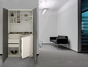 Pantryküche design  respekta Single Büro Pantry Küche Miniküche Schrankküche weiß Front ...