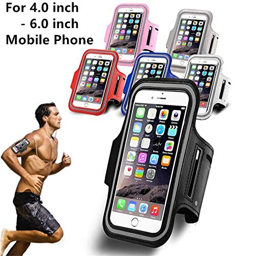 Price comparison product image shoppingmal Sport Gym Waterproof Armband Case 4.0 inch 4.7 inch 5.5 inch 6.0 inch Mobile Phone(Grey,Samsung Galaxy S9)