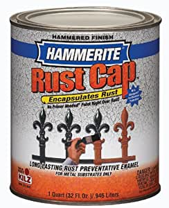 Masterchem 43150 1 quart Hammered Light Blue Hammerite Rust CapTM Enamel Paint