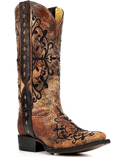 Womens Bronze Cowboy Boots - 7