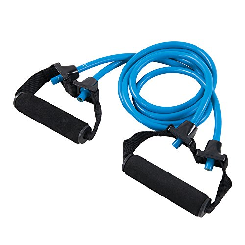 Power Systems Premium Double Versa-Tube with Padded Handles, Resistance Band Level:  Heavy, Light Blue, 48 Inches  (84512)